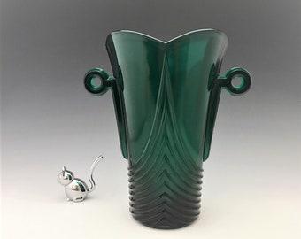 Imperial by Lenox Stiegel Green Art Deco Vase - Stanhope Pattern