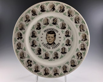 John F. Kennedy Commemorative Plate - Presidents of the United States Ceramic Plate