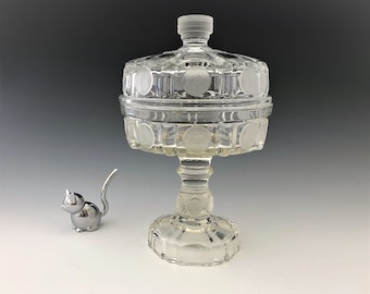 U.S. Coin Pattern - Silver Age Pattern - Mid Century Reproduction Covered Compote - Covered Candy Dish