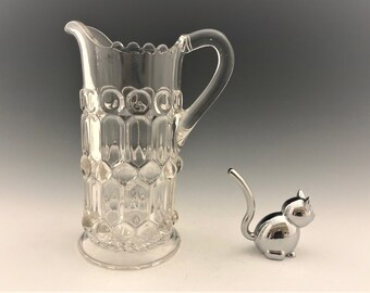 EAPG Creamer - Prism With Ball and Button - Hard to Find - Early American Pattern Glass
