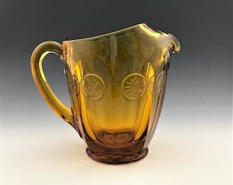 Fostoria Coin Glass Amber 32 Ounce Pitcher