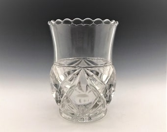 EAPG Spooner - Tarentum Glass Company - Albany Pattern (OMN) - AKA Beveled Diamond and Star - Early American Pattern Glass - Circa 1894