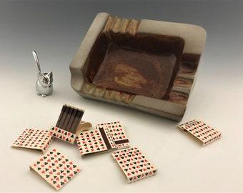 Gants Mid Century Ashtray - MCM Pottery - Industrial Feel - Ashtrays As Art