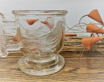 Atterbury Eastlake EAPG Cup - Robin and Wheat -  3 1/2 Inch Cup - Victorian Era Glass