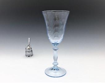 Cambridge Glass Caprice Moonlight Blue Pattern - Claret Wine Glass - Elegant Depression Era Glass