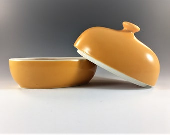 Yellow Covered Butter Dish - Lindt-Stymeist - Rso Brights Yellow Collection - Ceramic 1/4 Pound Butter Dish