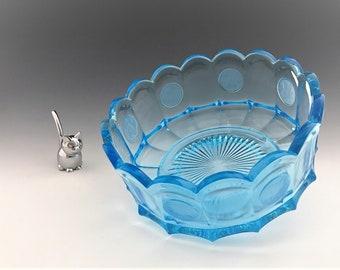 Fostoria Coin Glass Light Blue - 7 Inch Round Bowl