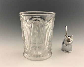 EAPG Spooner -Whirling Dervish Pattern - Early American Pattern Glass