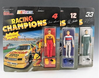 Set of 6 NASCAR Action Figures - Racing Champions and Racing Superstars