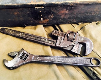Vintage Pipe and Adjustable Wrenches