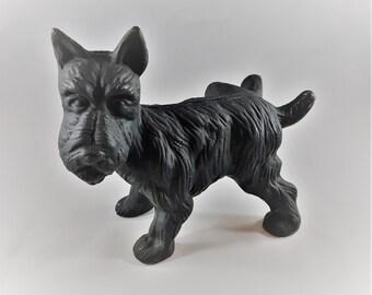 Vintage Cast Iron Scottie Dog Dog Stop - Black Metal Scottish Terrier