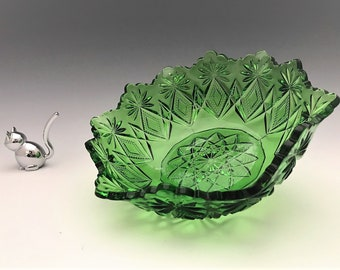 EAPG Bowl - U.S. Glass Company No. 15046 Victor (OMN) - AKA Shoshone - Early American Pattern Glass - c. 1896