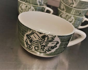 Old Curiosity Shop - Vintage Flat Cup - Discontinued Charles Dickens Collection – Green Tea Cup