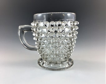 Beautiful EAPG Cup or Mug - Canton Glass Company - AKA Hobnail - Circa 1880 - Early American Pattern Glass