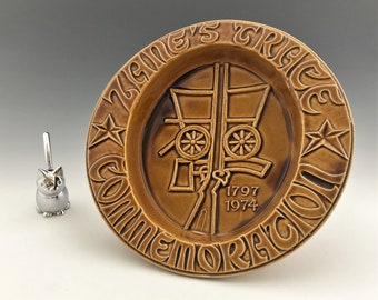 Zane's Trace Commemoration - McCoy Pottery Trinket Bowl or Ashtray - Al Klubert Design - Hard to Find