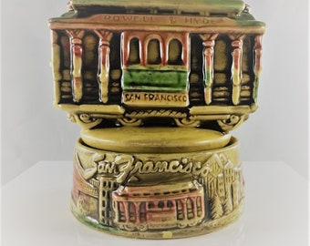 Vintage Ceramic Music Box - San Francisco Trolley - Powell & Mason