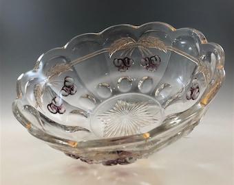 EAPG Master Berry Bowl - Northwood Glass Company - Cherry Thumbprint Pattern - Early American Pattern Glass - Circa 1907