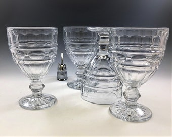 Fostoria Hermitage Water Goblets - Set of 4 - Depression Era Glasses