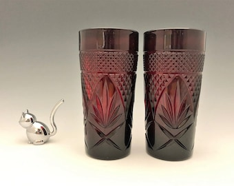 Ruby Red Luminarc Arcoroc Tumblers - Set of 2