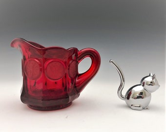 Fostoria Coin Glass Ruby Red Creamer