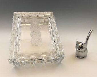 Fostoria Coin Glass - Cigarette Box - Hard to Find