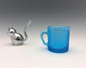 EAPG Cup/Mug - Bryce Brothers - Daisy (OMN) - AKA Cross Hatching - Early American Pattern Glass - Circa 1887