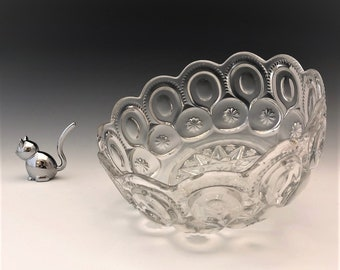 EAPG Bowl - Adams and Company - Palace Pattern - Moon and Star Bowl