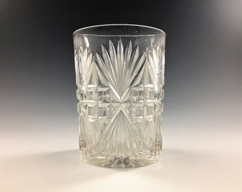 EAPG Tumbler - McKee and Bros Glass - Pilgrim Pattern (OMN) - Early American Pattern Glass - Circa 1897