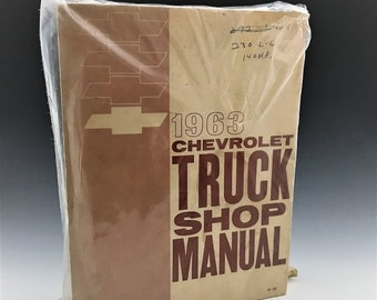 1963 Chevy Truck Shop Manual - Chevrolet Service Manual - Like New