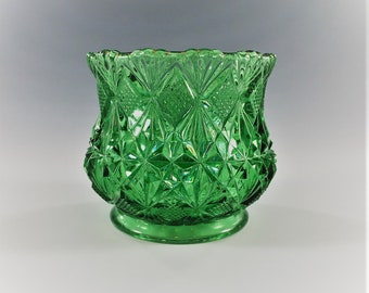 Beautiful Emerald Green EAPG Individual Sugar - McKee and Brothers Glass - Teutonic (OMN) - Circa 1898 - Early American Pattern Glass