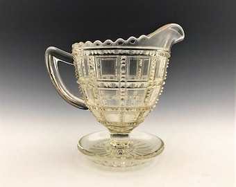 Imperial Glass Beaded Block Pattern - Whimsy - Modified Creamer - Cream Pitcher Variant - Hard to Find