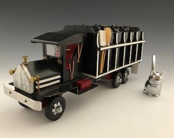 Hand Crafted Coal Truck - Wooden Model Truck - Steve Sausnock Model Truck - Folk Art Truck