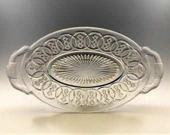 EAPG Pickle Dish - Gillinder and Sons - Centennial Pattern - AKA Washington Centennial - Early American Pattern Glass - Circa 1876