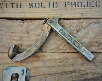 Vintage Fire Hydrant Wrench - Brass Firefighter's Tool - Wooster Ohio - Akron Brass Mfg Co