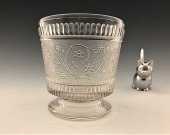 EAPG Sugar Bowl - Bryce Brothers - Pert Pattern (OMN) - AKA Ribbed Forget Me Not - Early American Pattern Glass - Circa 1880