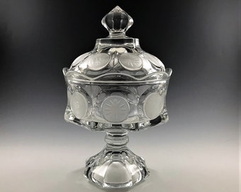 Stunning Fostoria Coin Glass Wedding Box With Lid