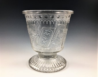 EAPG Sugar Bowl - Adams and Company - Prayer Rug (OMN) - AKA Good Luck or Horseshoe - Early American Pattern Glass - Circa 1881