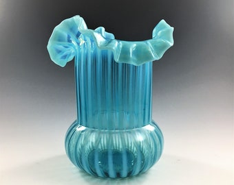 EAPG Celery Vase - Northwood Glass Company - Stripe Pattern - Early American Pattern Glass - Circa 1889