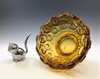L.E. Smith Moon and Star Amber Courting Lamp Base (6225) - Fairy Light Base