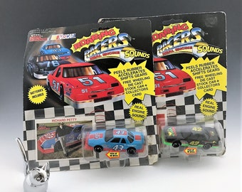 Richard and Kyle Petty - Racing Champions - Roaring Racers - NASCAR Toy Race Cars - Real Engine Sounds