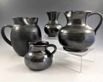 Collection of Vintage Prinknash Pottery - Four Pieces - Jugs/Creamers - Made in England