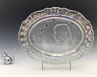"Fostoria ""American Milestones"" Plate - Francis Scott Key - 1972 Crystal Collector's Plate"