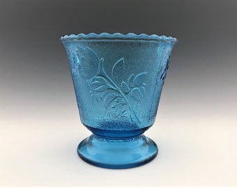 EAPG Sugar Bowl - Campbell, Jones and Company - No. 125 (OMN) - AKA Rose In Snow - Early American Pattern Glass - Circa 1883