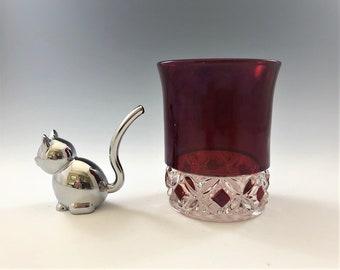 EAPG Tumbler - Model Flint Glass Company - Spokane Pattern - AKA Pillow Encircled - Early American Pattern Glass (EAPG) - c. 1889