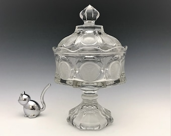 Stunning Fostoria Coin Glass Wedding Box With Lid