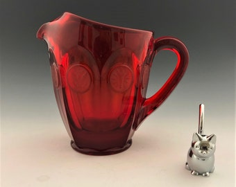 Fostoria Coin Glass Ruby Red 32 Ounce Pitcher