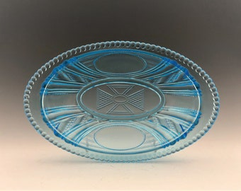 EAPG Pickle Dish - Bryce Brothers - Argyle Pattern - Early American Pattern Glass - Circa 1886