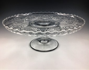EAPG Cake Stand - Lancaster Glass Company - Kansas (OMN) - Circa 1910 - Early American Pattern Glass