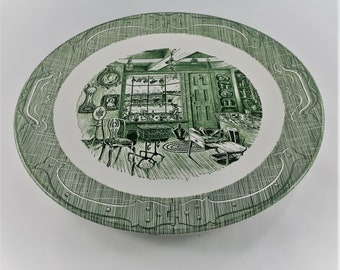 Old Curiosity Shop - 12 Inch Chop Plate - Discontinued Charles Dickens Collection - Green