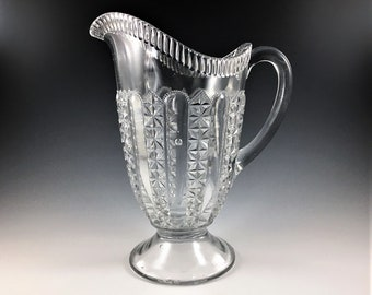 EAPG Pitcher - U.S. Glass Company - No. 6411 (OMN) - Early American Pattern Glass - Circa 1904